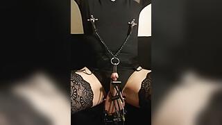 Kinky maso slut remote e-stim session June 11, 2021, part 1